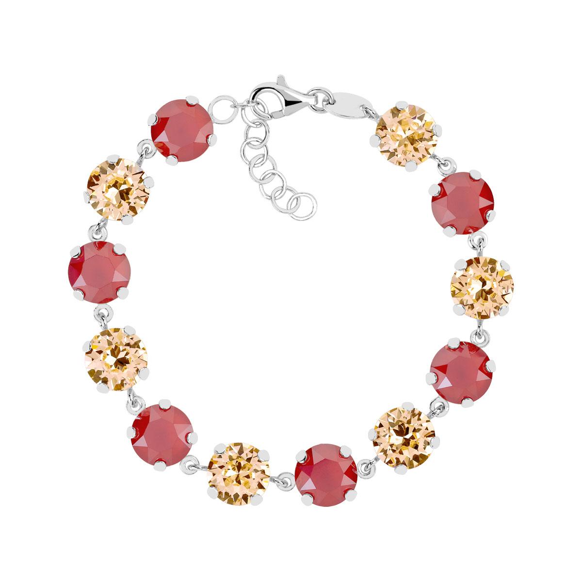 bracelet argent 925 cristaux de swarovski femme bracelet maille souple maty. Black Bedroom Furniture Sets. Home Design Ideas