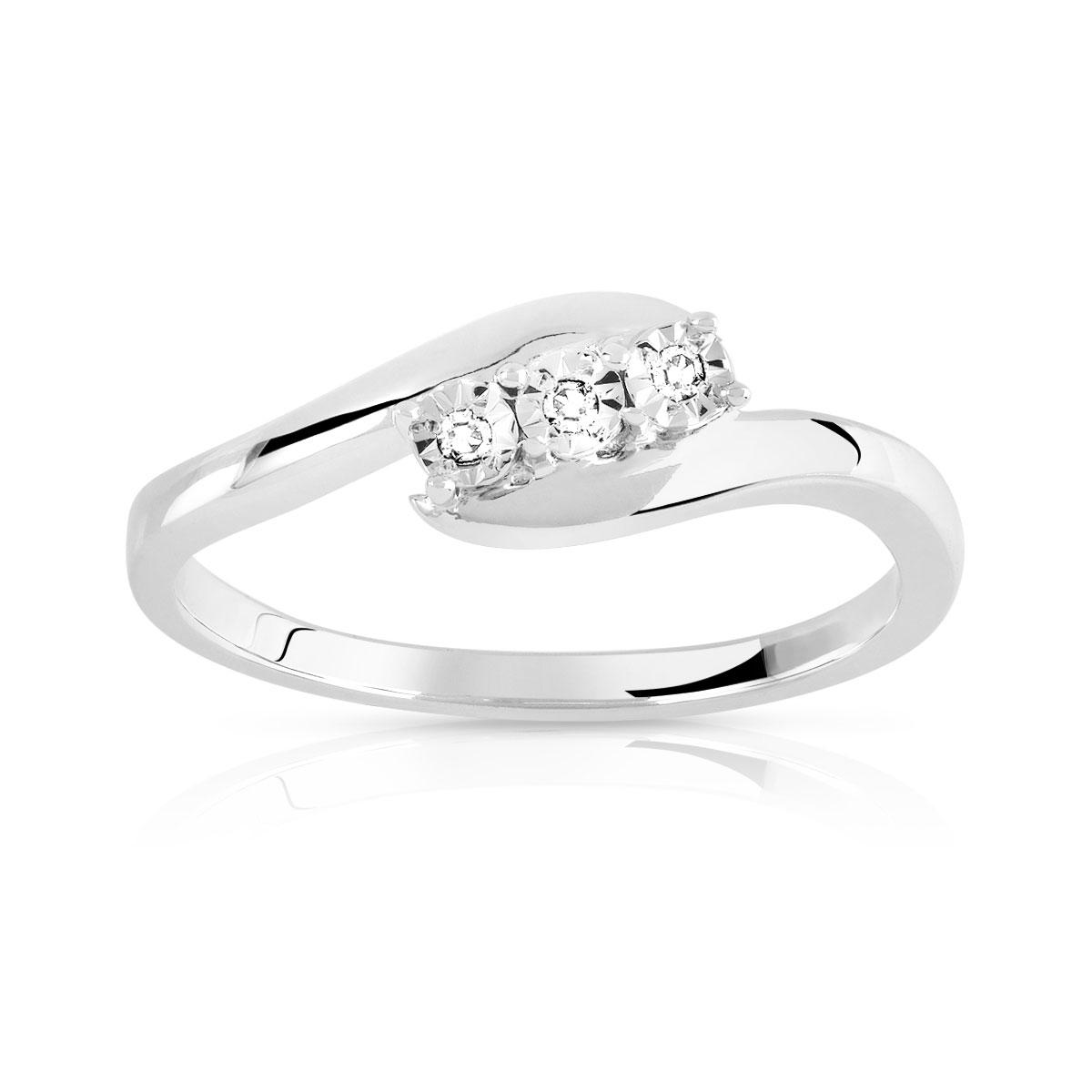 bague or argent diamant