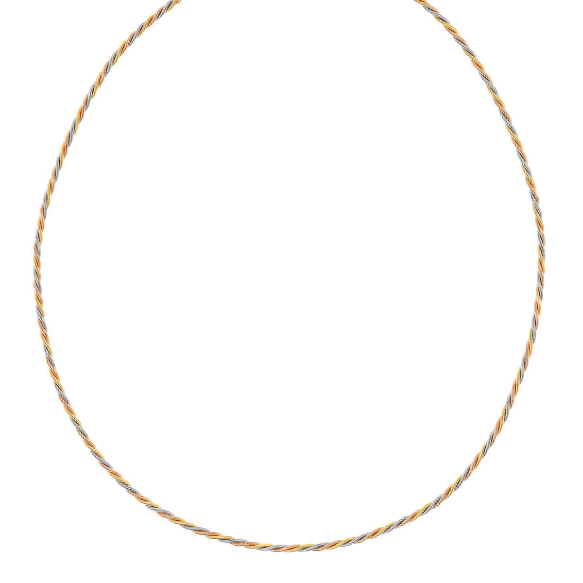 collier argent tricolore