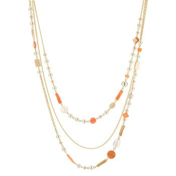 20eafc07326 Sautoir fantaisie perles imitation 74 à 79 cm