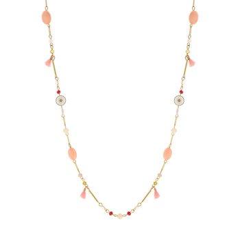 1ae373946ff Sautoir fantaisie perles imitation 82 à 87 cm