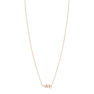 Collier doré rose zirconia