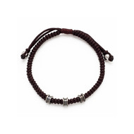 Bracelet cordon marron