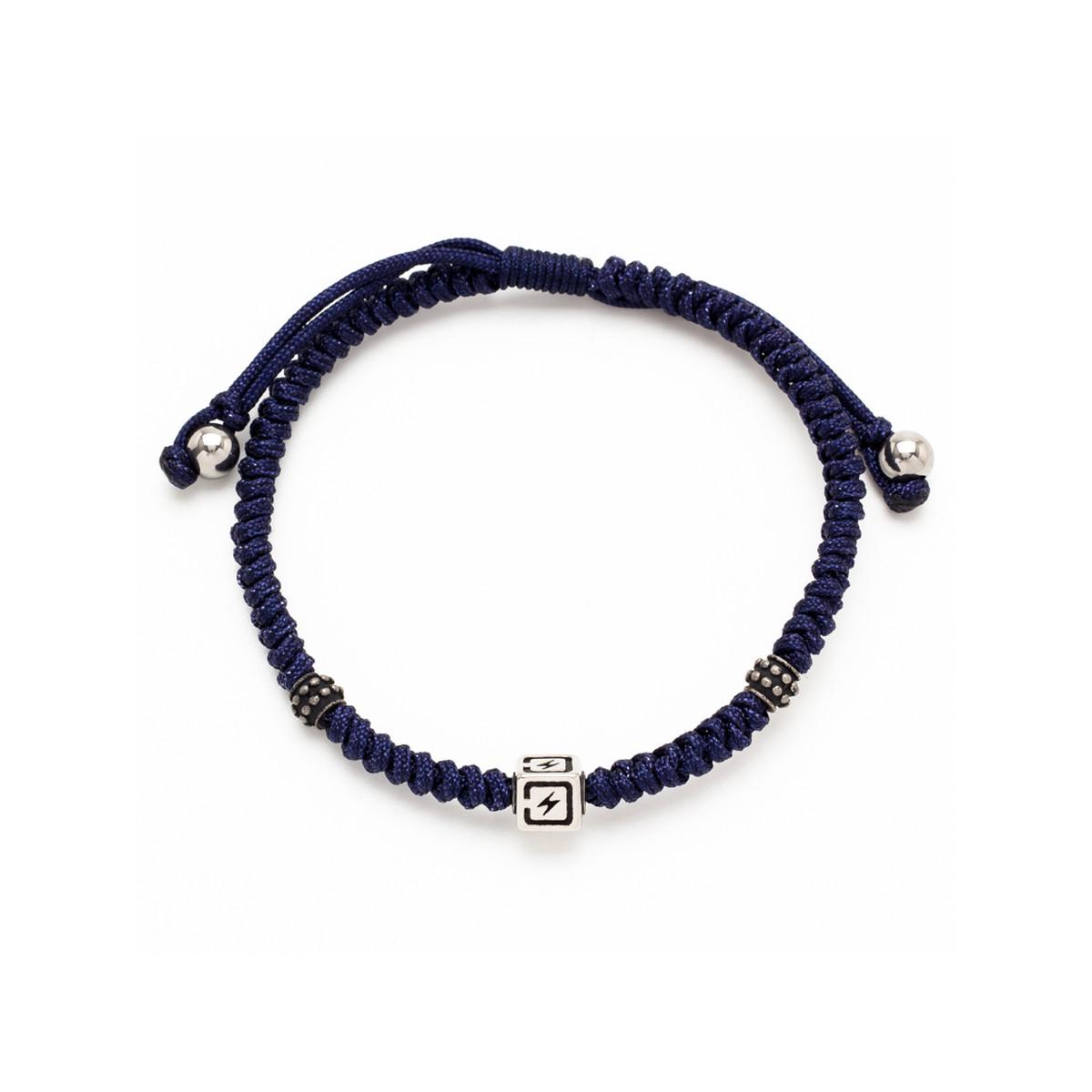 pas mal f83a3 14afb Bracelet cordon bleu marine