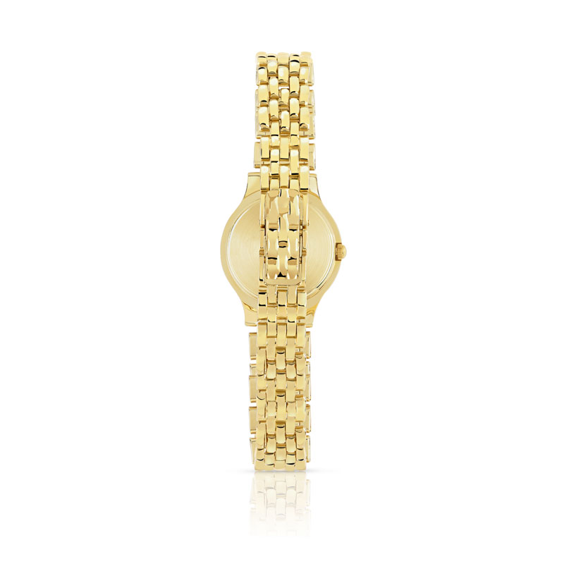 Montre femme or 750 jaune diamant bracelet or 750 - vue V2