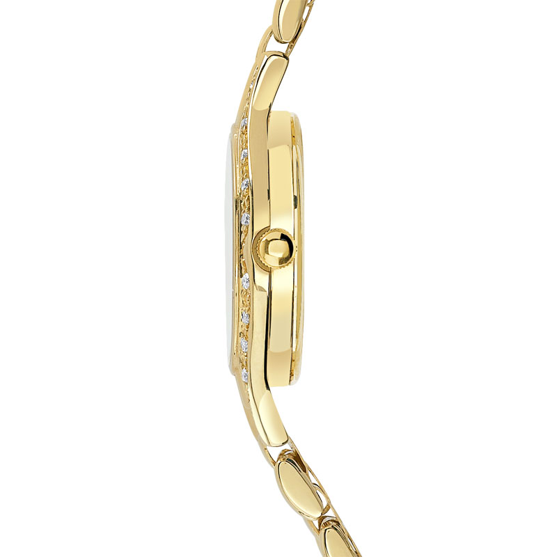 Montre femme or 750 jaune diamant bracelet or 750 - vue V3