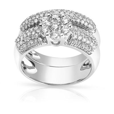 Favori Bague et alliance demi-tour or blanc diamant - Femme - Bague | MATY WM51