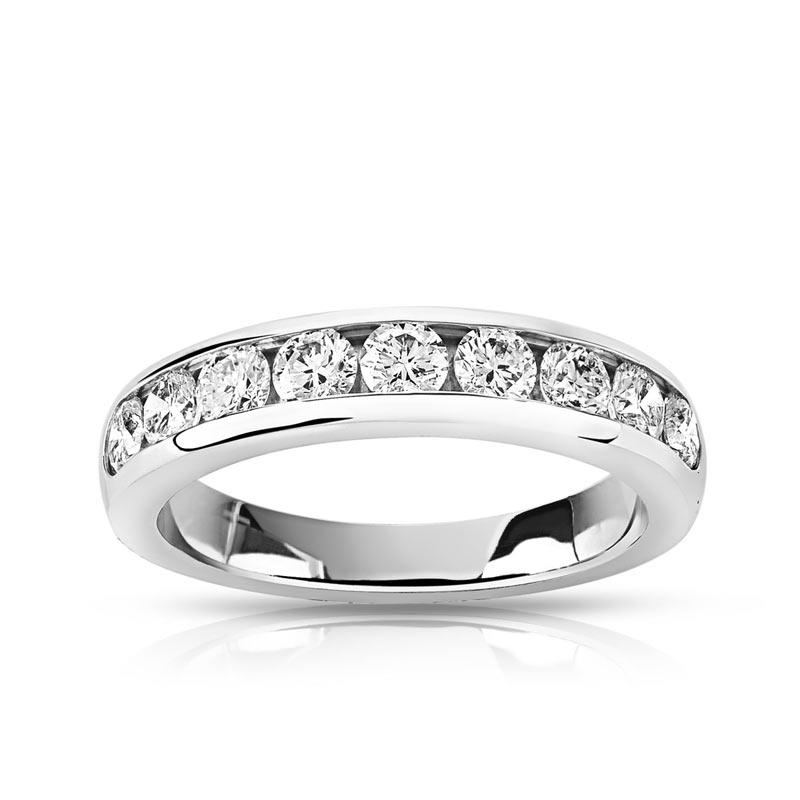 alliance homme platine diamant #2