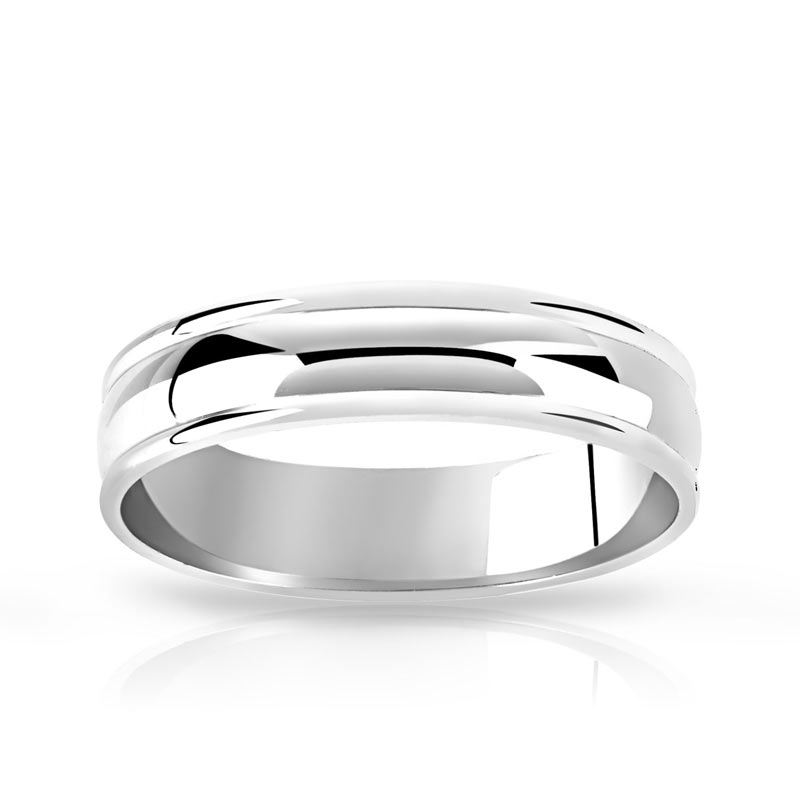 bague mariage homme platine #3