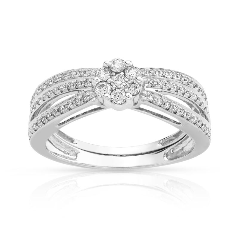 alliance femme or blanc et diamant #3