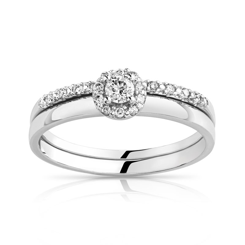 Exemple dalliances alliance femme or blanc et diamant