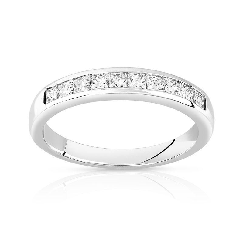 alliance femme or blanc et diamant #2