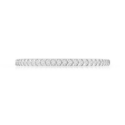 Alliance demi-tour or 750 blanc diamant - vue 3