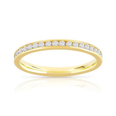alliance or 750 jaune diamant femme 41 diamants maty. Black Bedroom Furniture Sets. Home Design Ideas