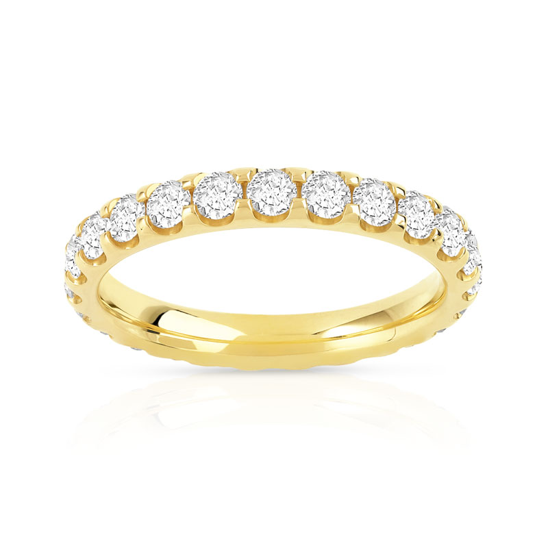 alliance or 750 jaune diamant femme 25 diamants maty. Black Bedroom Furniture Sets. Home Design Ideas