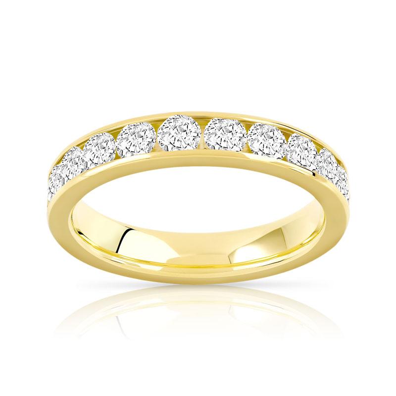 alliance or 750 jaune diamant femme 23 diamants maty. Black Bedroom Furniture Sets. Home Design Ideas