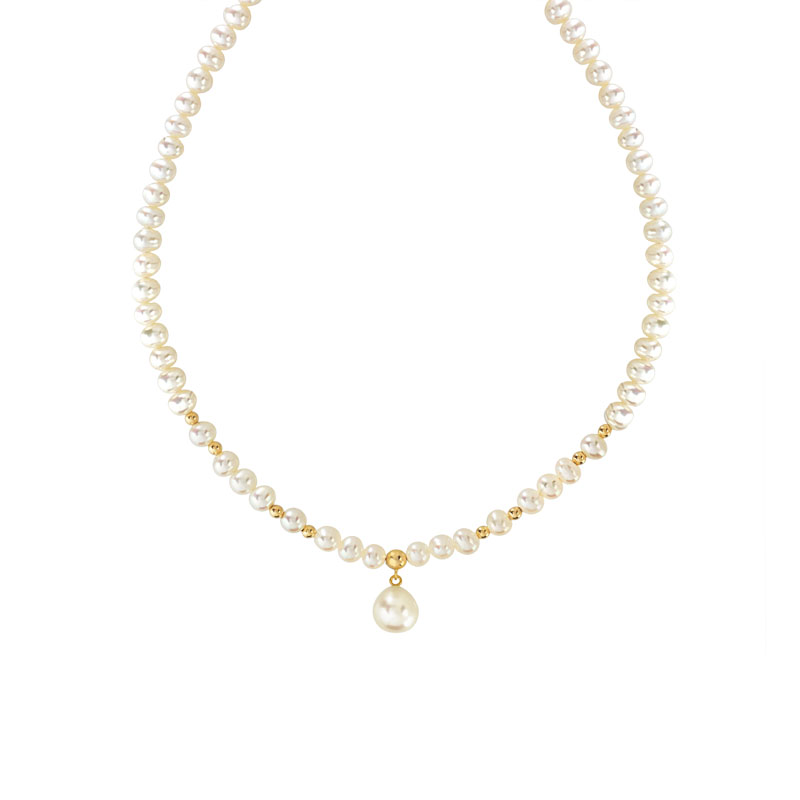 collier or 750 jaune perles de culture de chine femme. Black Bedroom Furniture Sets. Home Design Ideas