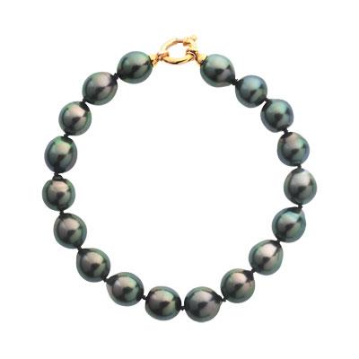 Bracelet or 750 jaune perles de culture de Tahiti