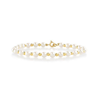 bracelet perle jaune
