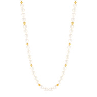 Collier or jaune 750 perle culture chine
