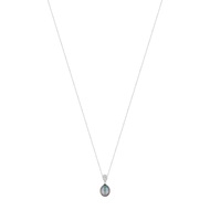 Collier or blanc 750 perle culture tahiti diamant