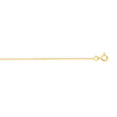 Chaîne maille vénitienne or 750 jaune 50 cm