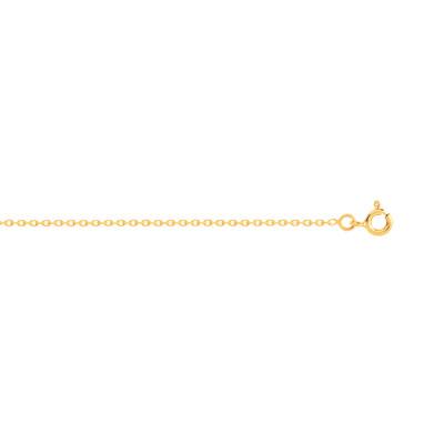 Chaîne maille forçat or 750 jaune 40 cm