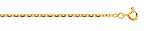 Chaîne maille forçat or 750 jaune 50 cm