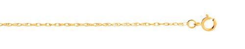 Chaine maille torsadée or 750 jaune 45 cm