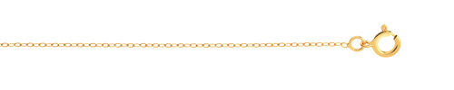 Chaîne maille forçat or 750 jaune 45 cm