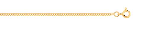 Chaîne maille gourmette or 750 jaune 40 cm