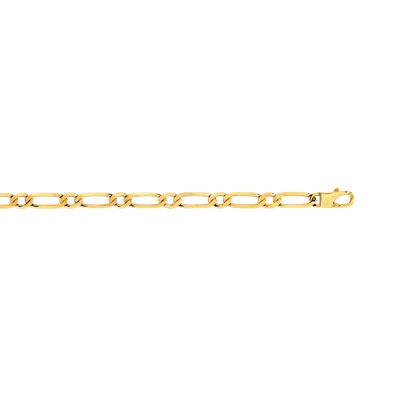 Bracelet or 750 jaune maille cheval alternée