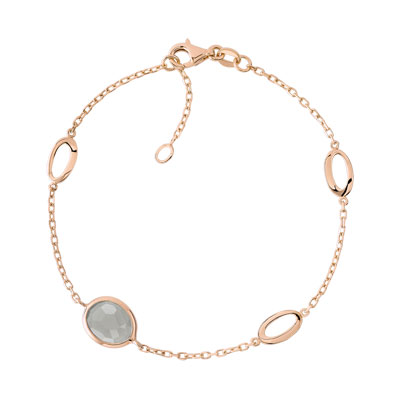 Bracelet or 750 rose quartz fumé - vue 1