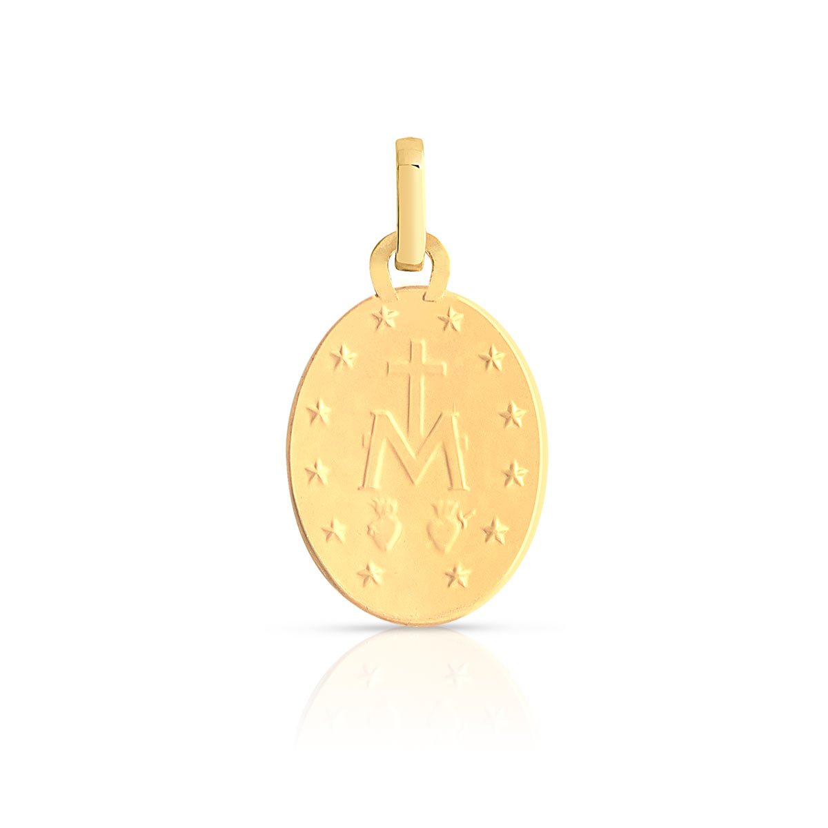 Médaille or 750 jaune vierge miraculeuse - vue VD1