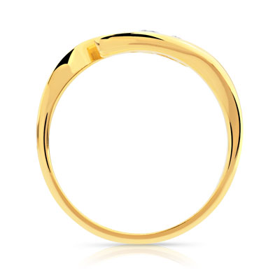 Bague Trilogy or 750 jaune diamant - vue 2