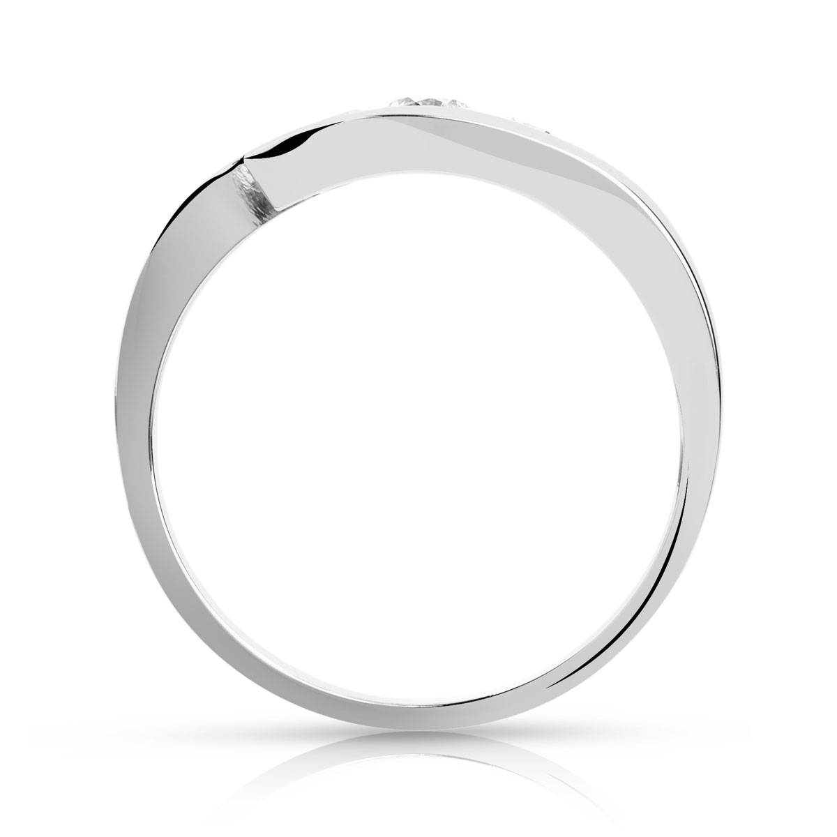Bague Trilogy or 750 blanc diamant - vue 2