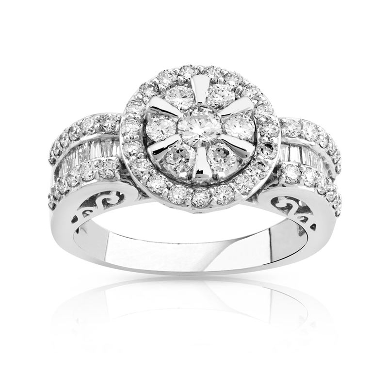 bague or 750 blanc diamant 1 02 carat femme bague maty. Black Bedroom Furniture Sets. Home Design Ideas