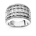 Bague or 750 blanc diamant 1,51 carat