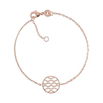 Bracelet plaqué or rose zirconia , vue 1
