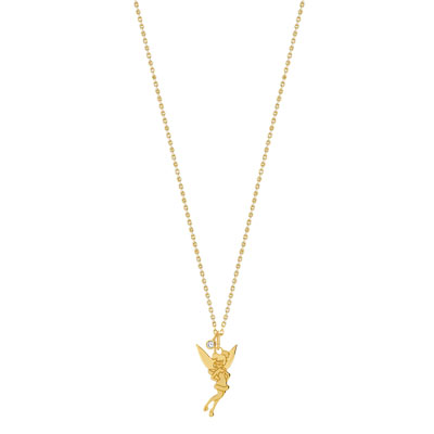 Collier Disney plaqué or zirconia