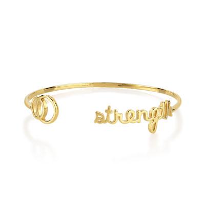 Bracelet rigide plaqué or , vue V1