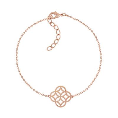 bracelet plaqu or rose 18 21 cm vue 1. Black Bedroom Furniture Sets. Home Design Ideas