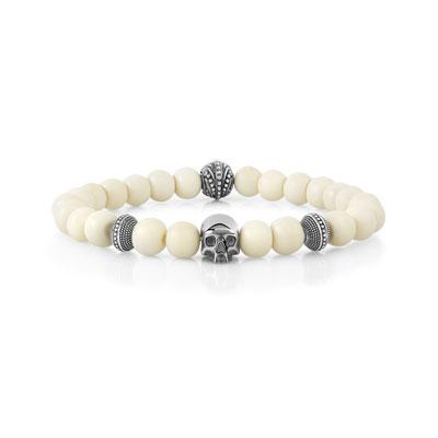 Cm Osseuses Bracelet Argenté Perles 21 HeD29EIWY