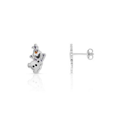 4fd76bb253f3b Boucles d oreilles Olaf argentées laque Disney - Enfant - Clous d ...