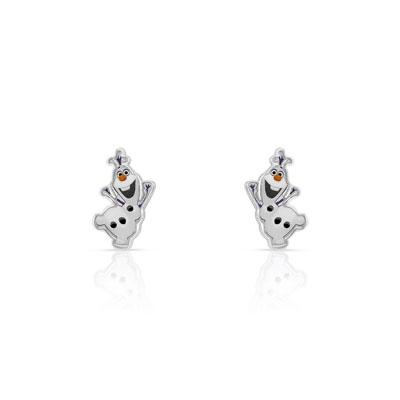 amazon célèbre marque de designer en soldes Boucles d'oreilles Olaf argentées laque Disney