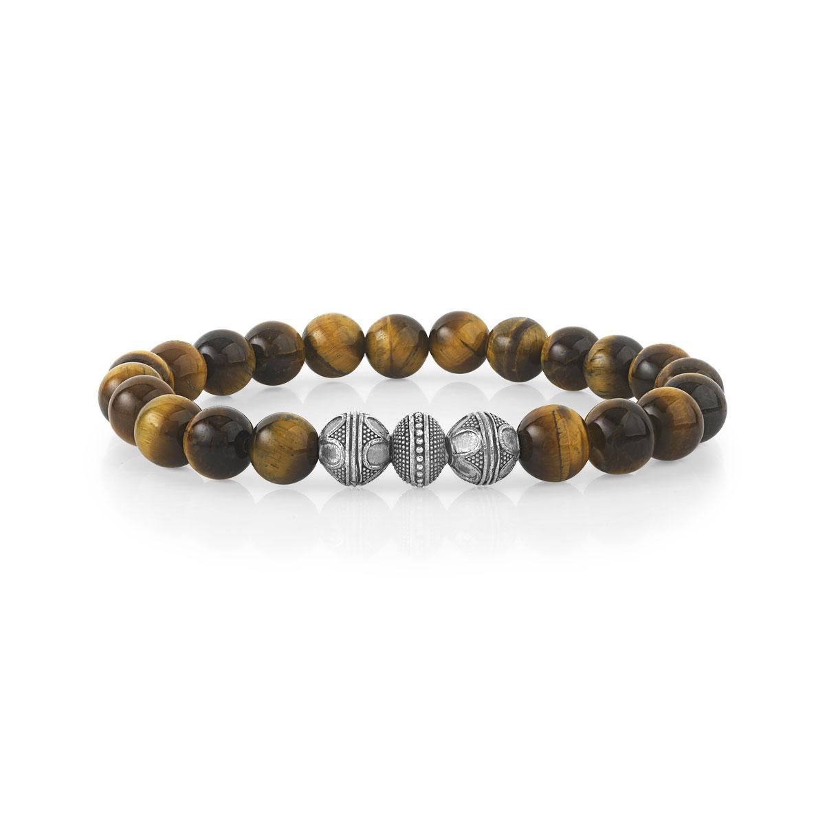 Bracelet perle homme oeil de tigre
