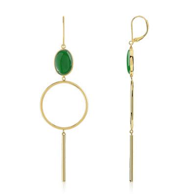 boucle d'oreille femme vert