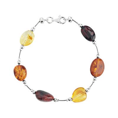 Bracelet argent 925 ambre