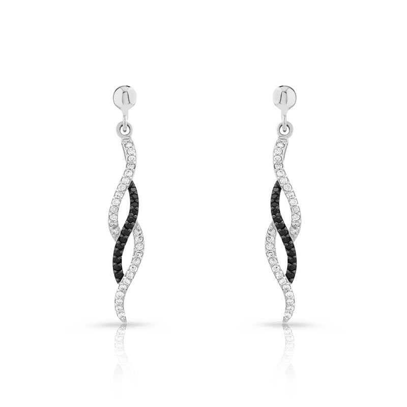 boucles d 39 oreilles argent 925 zirconia femme pendants maty. Black Bedroom Furniture Sets. Home Design Ideas