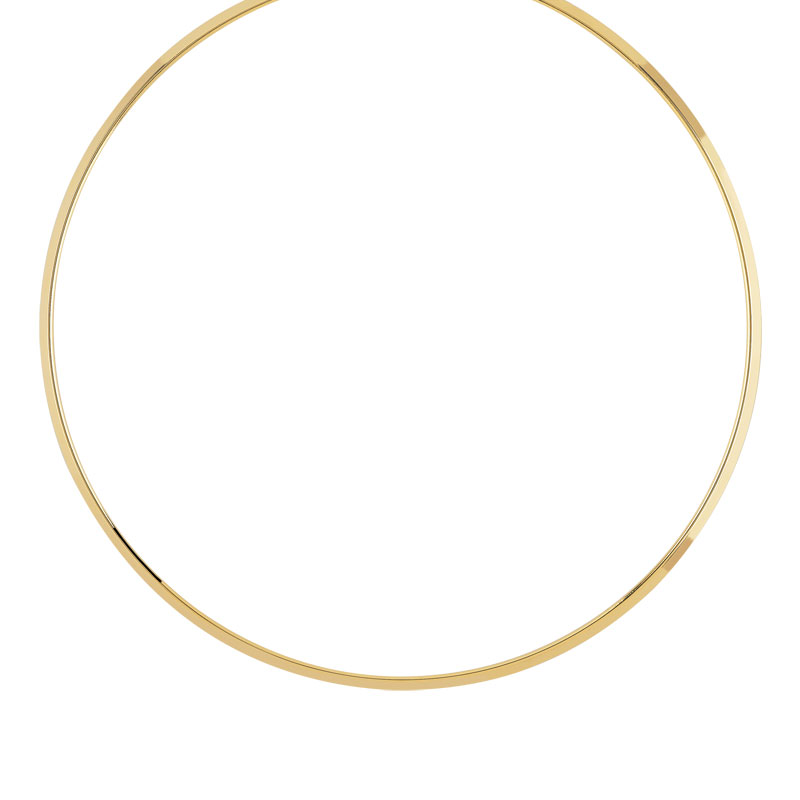 collier or blanc rigide